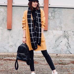 Zara | yellow midi or duster open coat/coatigan